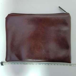 Brown leather like Pouch / Case / Bag