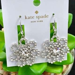 Kate Spade New York Crystal Lace Statement Earrings (INSTOCK)