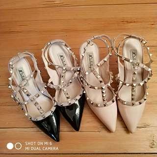 Valentino Alike Studded Heels Size 37