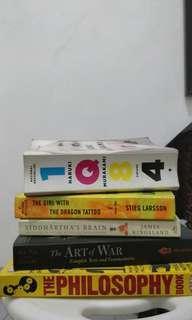 Book bundle - 1Q84, Art of war, Girl w/ Dragon Tattoo, The Philosophy Book