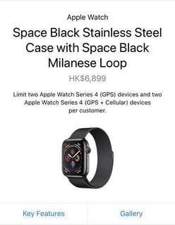 Apple Watch Series 4 LTE 44mm Space Black Milanese Loop