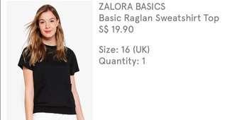 Zalora Black shirt XL