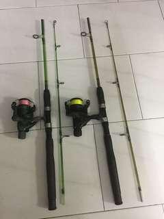 Used 5'ft rod and reels  $58/- each set
