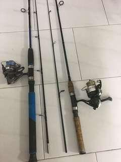 Used 5'ft Fishing rod and reel $58/- each