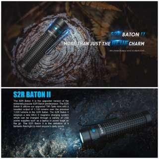 Olight S2R Baton II Rechargeable EDC Flashlight