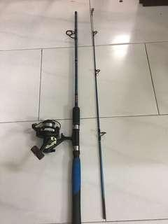 Used 5'ft rod and Shimano 1000 Reel