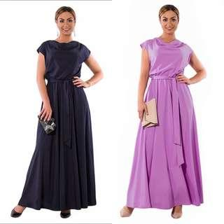 PLUS SIZE Sleeveless Long Maxi Dress with Belt