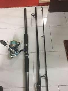 Used 13'ft BANDO  Horizon Rod and Galeon 706 Reel