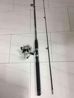 "Used 6'6""ft Fishing Rod and Ryoshi 2000 reel"