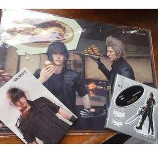 Final Fantasy 枱墊+postcard+座枱公仔