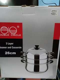 3 Layer Steamer and Casserole 26cm