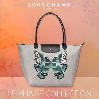 🚚 |  LONGCHAMP  |  LE PLIAGE PAPILLON  |  2605 & 1899 | S & L Size Tote Bags