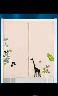 85X90cm In Stock Embroidery Japanese Door Curtain FengShui
