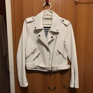 🚚 Zara 白色皮衣(含運