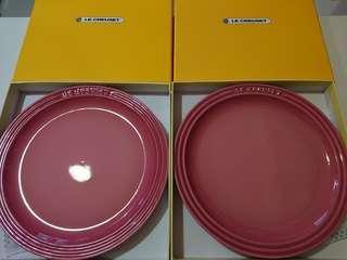 Le Creuset 日版rose quartz 23cm round plate set of 2