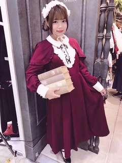日本 axes 斗篷 修女 風質 文青 學院風 連身裙