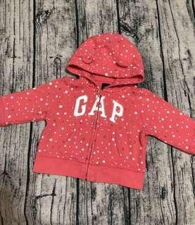 🚚 Baby Gap滿版星星✨熊耳外套6-12