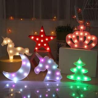 🚚 unicorn animal led lights