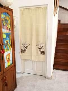 In Stock Embroidery Japanese Door Curtain Fengshui Partition
