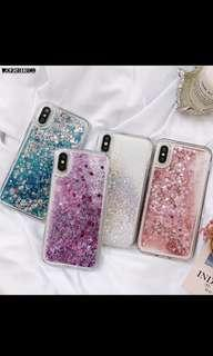 🚚 Liquid Water Case for Iphone X Dynamic Glitter Bling