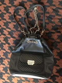Charles & Keith gold chain backpack