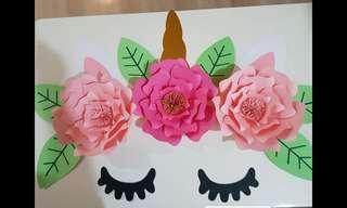 Handmade Unicorn Paper Flower( whole package)