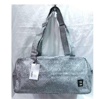 日本製♥HeM♥閃亮灰滿版LOGO肩背包/手提包