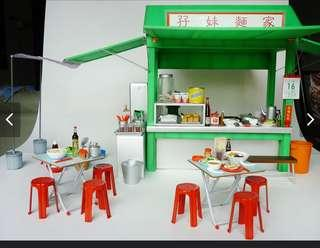 Mimo Chinese noodle shop miniature set