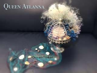 Queen Atlanna Preserved Flower Light Art {Aquaman Series }