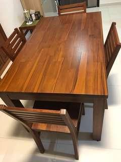 Wooden Dining Table (Scanteak)