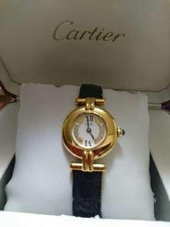 IS JAPAN CARTIER  WATCH with Cartier box.  GOOD WORKING. Not Hermes, Chanel, Gucci, Rolex, Balenciaga, Dunhill, Omega, Lanvin,  BMW, Benz. 日本名牌手錶((NO BIG BARGAIN, PLS ! 拜托!))