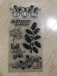 Fall Clear Stamp