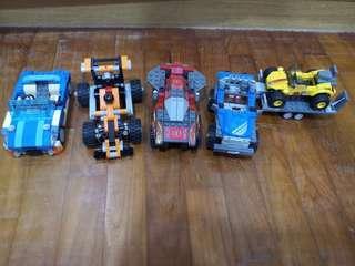 Assorted Lego Cars