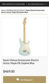 Squier Stratocaster deluxe (baby blue)