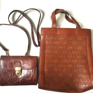 CLEARANCE SALE: Vintage Leather Bags