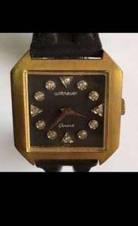 {Collectibles Item - Vintage Dress Watch} Authentic Vintage WITTNAUER Geneve Manual Winding Square Unisex Wrist Watch