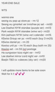 [YES sale ] wanna one official item !