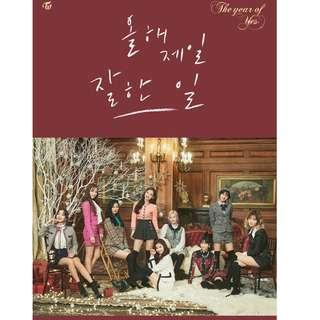 INCOMING INSTOCKS twice the year of yes album ver a/b repackaged special 3rd Christmas album