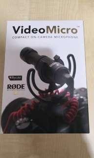Rode Microphones VideoMicro Compact On-Camera Microphone MFR: VIDEOMIC MICRO
