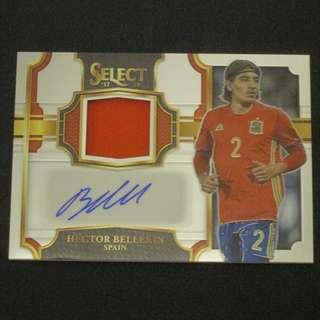17/18 Panini Select Jersey Autograph #/299- Hector BELLERIN #Arsenal #Spain