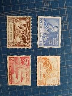 1949北婆羅洲萬國聯郵冇背貼4全新票