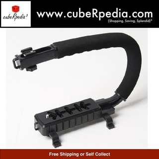 C-Shaped Handheld Stabilizer For Gopros/ DSLRs