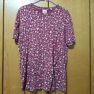 Lacoste T-shirt in Red with prints