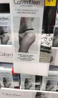 全新$169 美國購入CK Calvin Klein 女裝純棉內褲三件 Woman Panties Set