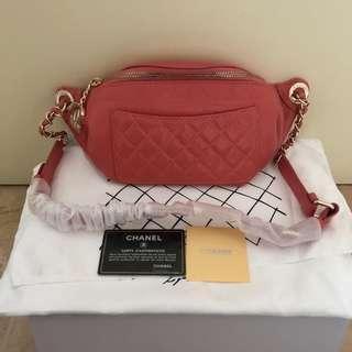 Chanel waist bag nagita red