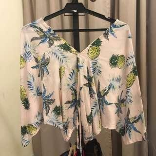 (INC POS) Tropical Blouse