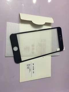 iphone6plue/6splue  黑色軟邊全屏玻璃鋼化膜