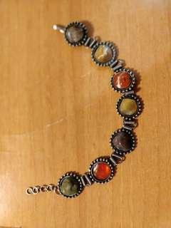 Vintage gem stones bracelet