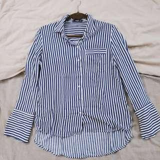 Mango Basics Stripped Shirt Size S