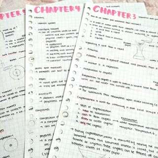 pure chemistry notes -- sec 3